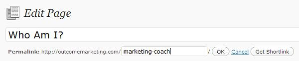 marketing coach page title