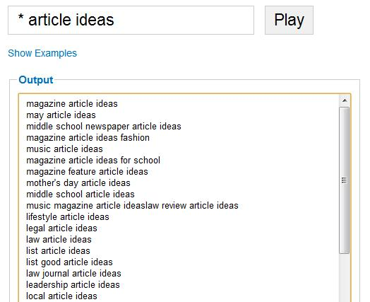 Article Ideas Search from Keyword Researcher