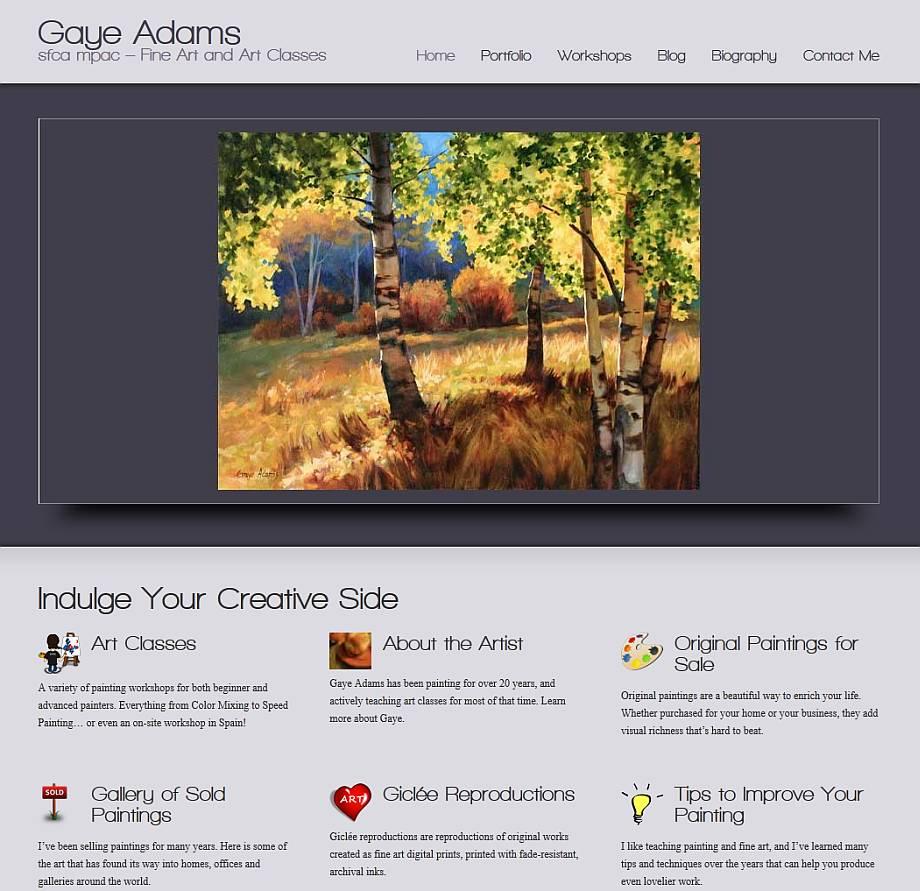 Gaye Adams - new website