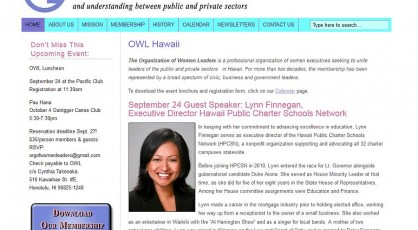 OWL Hawaii new website