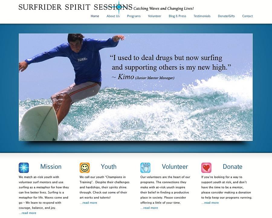 Surfrider Spirit Sessions New Website
